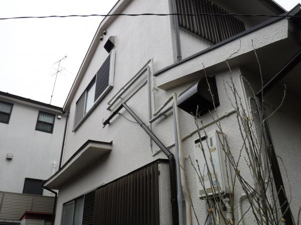 新宿の現場にて足場解体作業。