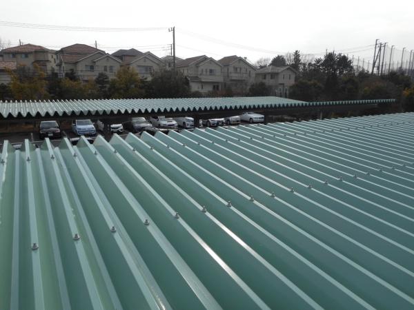 稲城市Y駐車場 折半屋根塗装工事