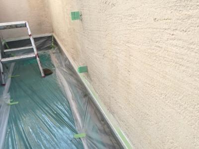 稲城市Y様邸外壁塗装工事/高圧洗浄作業