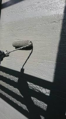 稲城市Y様邸外壁塗装工事/外壁上塗り