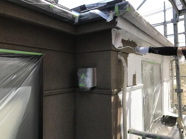 小金井市K様邸/外壁・屋根下塗り作業