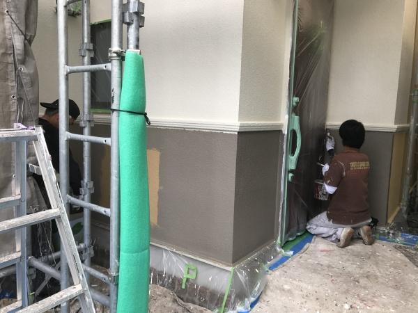 小金井市K様邸/外壁・屋根中塗り~上塗り作業