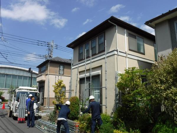 小金井市K様邸・S様邸にてW足場工事