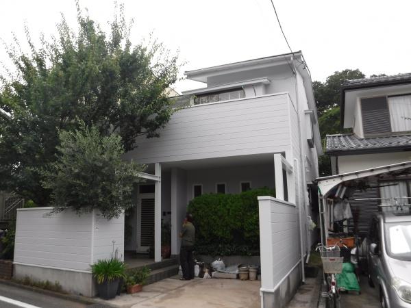 稲城市Y様邸 外壁塗装・屋根カバー工法・破風板金・雨樋工事