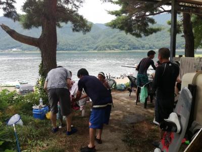 河口湖BBQ&ジェットスキー