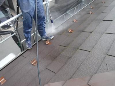 稲城市T様邸外壁・屋根塗装工事/高圧洗浄