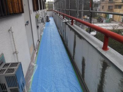 調布市G.Sマンション外壁塗装工事/下地調整作業