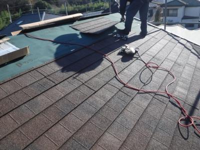 稲城市I様邸外壁塗装・屋根工事/ディプロマット葺き作業