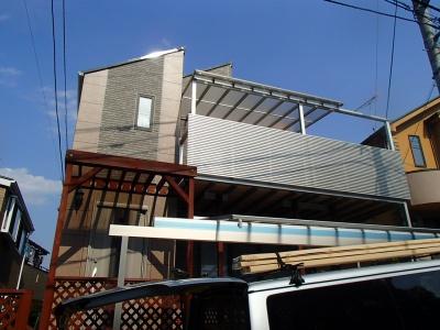 町田市I様邸外壁・屋根塗装、バルコニー取付工事