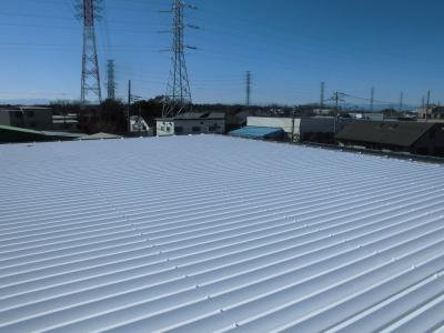 【折半屋根塗装工事】調布市J倉庫
