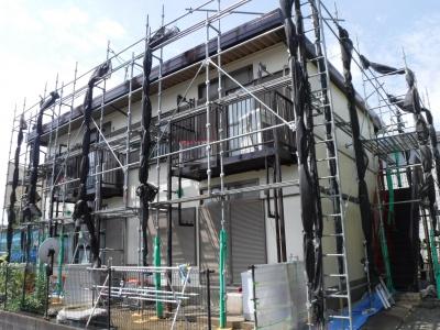 【外壁・折半屋根塗装工事】川崎市Tハイツ